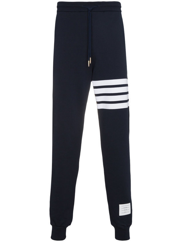 Thom Browne Engineered 4-Bar Jersey Sweatpant - Blue