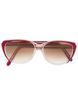 Yves Saint Laurent Pre-Owned 1980's cracked print sunglasses - Red