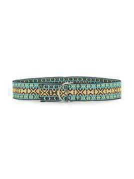 Velveteen Benedict jacquard D-ring belt - Multicolour