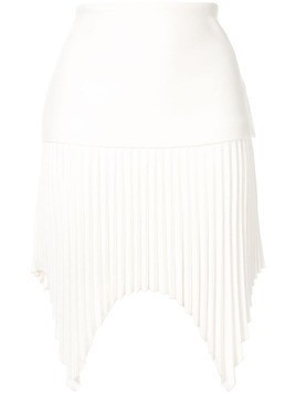 Dion Lee angled pleated mini-skirt - White