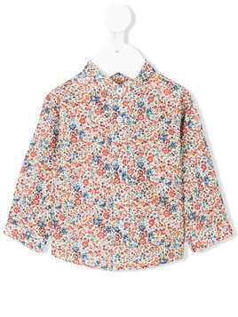 Cashmirino - Floral print shirt - Kinder - Cotton - 9 mth - Multicolour