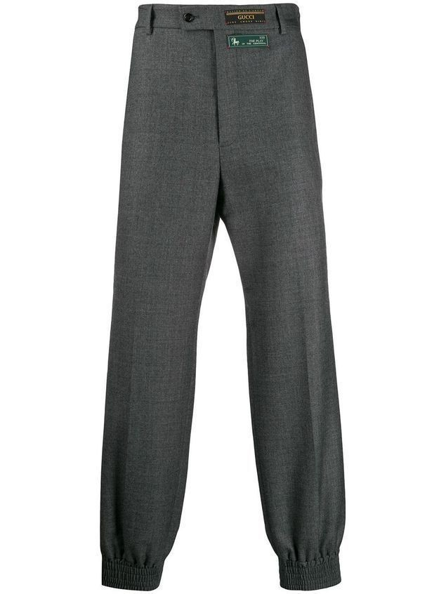 Gucci elasticated cuff trousers - Grey