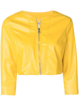 Liu Jo cropped bomber jacket - Yellow & Orange
