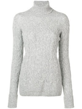 Drumohr cable knit turtle neck sweater - Grey