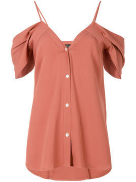 Theory cold shoulder shirt - Pink & Purple