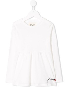 Douuod Kids embroidered T-shirt - White