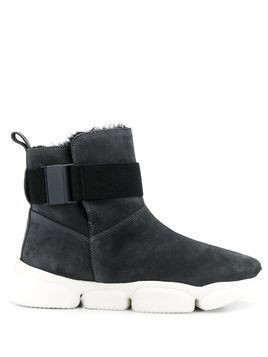 Moncler Bono side buckle boots - Blue