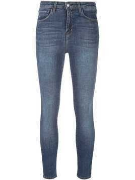 L'agence skinny cropped stonewashed jeans - Blue