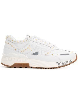 Versace studded sneakers - White