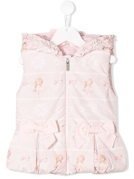 Lapin House bow detail vest - Pink