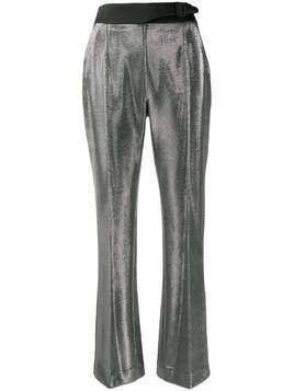 Ermanno Scervino high-waisted metallic trousers - Silver