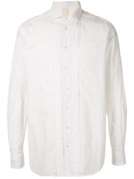 Forme D'expression front bib button-up shirt - White