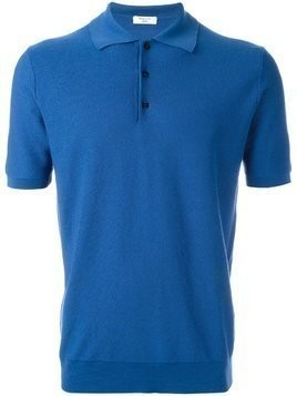 Fashion Clinic Timeless knitted polo shirt - Blue
