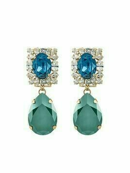Anton Heunis Michelle crystal-embellished drop earrings - Blue