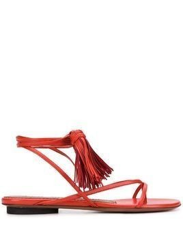 L'Autre Chose wrap-tie tassel sandals - Red