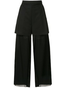 Litkovskaya layered style trousers - Black