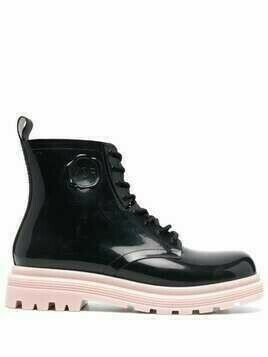 Viktor & Rolf contrasting sole lace-up boots - Black
