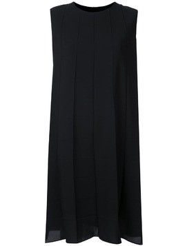 Kuho short pleated dress - Black