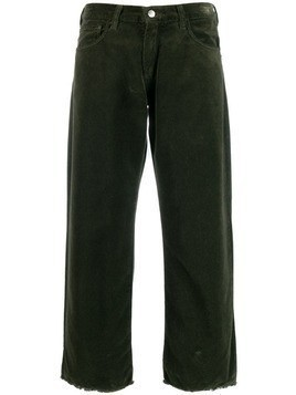 Massimo Alba cropped straight-leg trousers - Green
