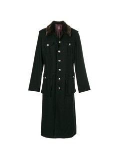 Jean Paul Gaultier Vintage faux fur collar coat - Black