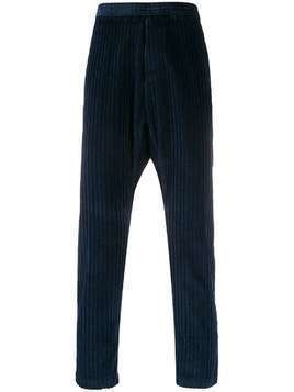 Barena straight leg cord detail trousers - Blue
