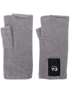 Y-3 fingerless gloves - Grey