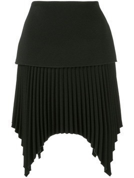 Dion Lee pleated mini skirt - Black