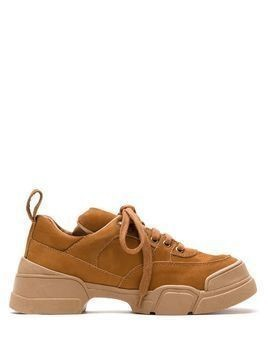 Sarah Chofakian Voyage leather chunky sneakers - Brown