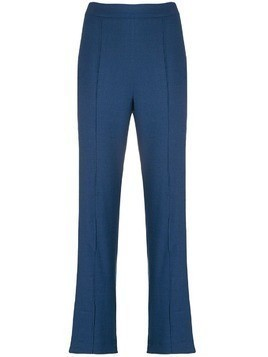 Hebe Studio high-waisted smoking pants - Blue