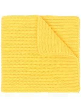Pringle of Scotland chunky-knit cashmere scarf - Yellow