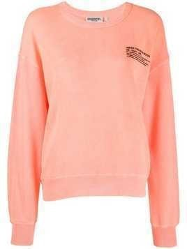 Essentiel Antwerp Under The Neon Moon print sweatshirt - Orange