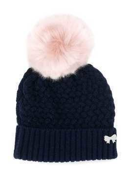 Hucklebones London chunky pompom hat - Blue