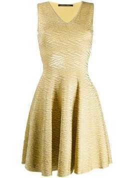 Antonino Valenti brocade flared dress - Yellow