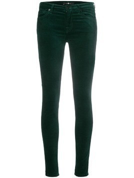 7 For All Mankind skinny velvet trousers - Green