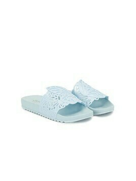 Sophia Webster Mini Lia butterfly slides - Blue