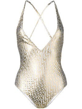 Missoni Mare logo one-piece swimsuit - White
