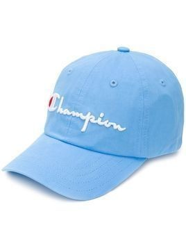 Champion large logo baseball cap - Blue