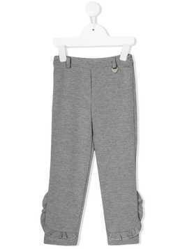 Lapin House frill-trim trousers - Grey