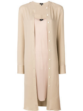 Theory mandarin collar shirt - Nude & Neutrals