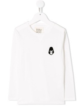 Douuod Kids monkey detail sweatshirt - White