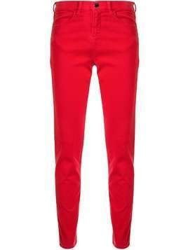 Emporio Armani low rise skinny trousers - Red