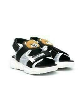 Moschino Kids Teddy Bear motif sandals - Black