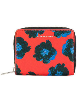 Ps By Paul Smith - floral zip wallet - Damen - Calf Leather - One Size - Red