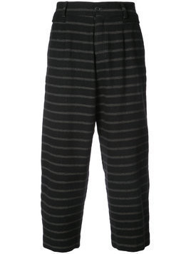 Damir Doma striped drop crotch trousers - Black