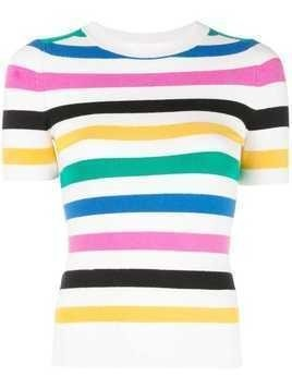 JoosTricot striped knitted top - White