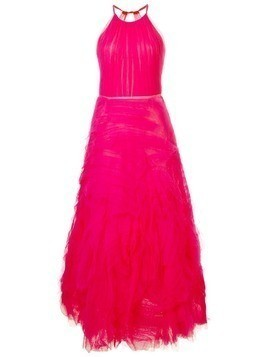 Marchesa Notte long tulle dress - Pink