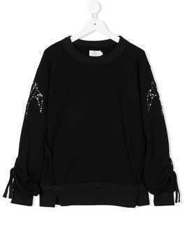 Andorine embroidered sweatshirt - Black