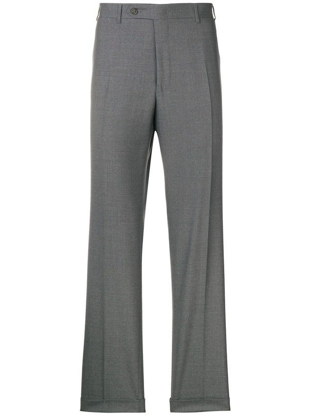 Canali straight leg suit trousers - Grey