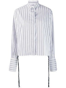 Each X Other knotted tassels poplin shirt - White