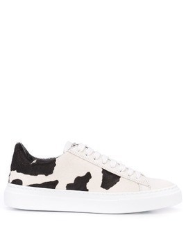 Fabiana Filippi cow print low-top sneakers - White
